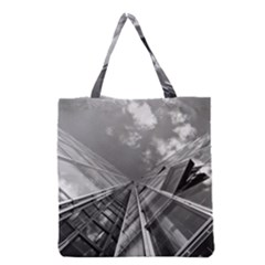 Architecture Skyscraper Grocery Tote Bag by BangZart
