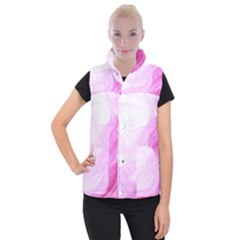 Material Ink Artistic Conception Women s Button Up Puffer Vest