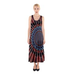 The Fourth Dimension Fractal Noise Sleeveless Maxi Dress