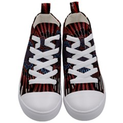 The Fourth Dimension Fractal Noise Kid s Mid Top Canvas Sneakers