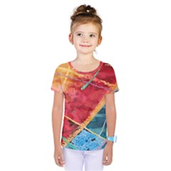 Painting Watercolor Wax Stains Red Kids  One Piece Tee