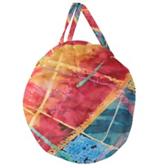 Painting Watercolor Wax Stains Red Giant Round Zipper Tote