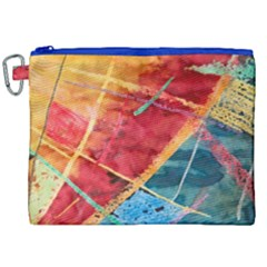 Painting Watercolor Wax Stains Red Canvas Cosmetic Bag (xxl)