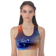 Colorful Pattern Color Course Sports Bra by BangZart