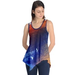Colorful Pattern Color Course Sleeveless Tunic by BangZart