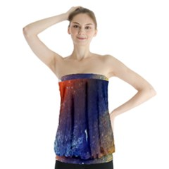 Colorful Pattern Color Course Strapless Top