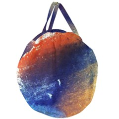 Colorful Pattern Color Course Giant Round Zipper Tote