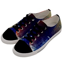 Colorful Pattern Color Course Men s Low Top Canvas Sneakers by BangZart