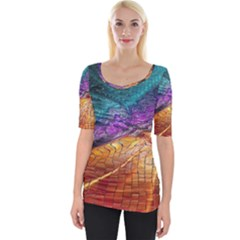 Graphics Imagination The Background Wide Neckline Tee by BangZart