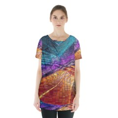 Graphics Imagination The Background Skirt Hem Sports Top