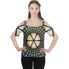 Stained Glass Colorful Glass Cutout Shoulder Tee