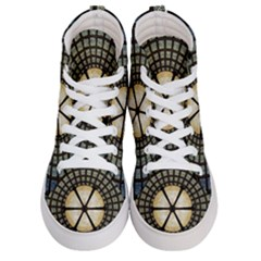 Stained Glass Colorful Glass Men s Hi Top Skate Sneakers