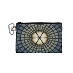 Stained Glass Colorful Glass Canvas Cosmetic Bag (small)
