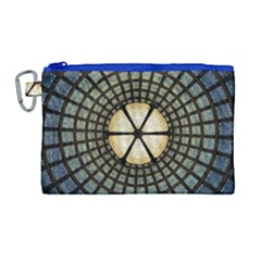 Stained Glass Colorful Glass Canvas Cosmetic Bag (large)