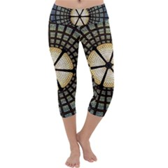 Stained Glass Colorful Glass Capri Yoga Leggings