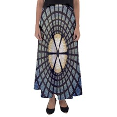 Stained Glass Colorful Glass Flared Maxi Skirt