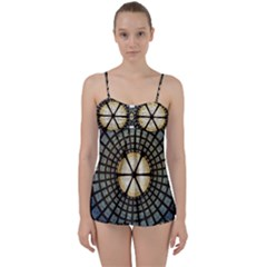 Stained Glass Colorful Glass Babydoll Tankini Set
