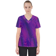 Abstract Fantastic Fractal Gradient Scrub Top