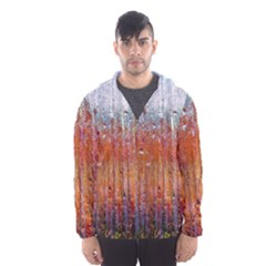 Glass Colorful Abstract Background Hooded Wind Breaker (men)