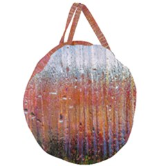 Glass Colorful Abstract Background Giant Round Zipper Tote