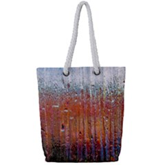 Glass Colorful Abstract Background Full Print Rope Handle Tote (small)