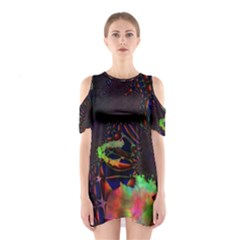 The Fourth Dimension Fractal Shoulder Cutout One Piece