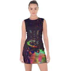 The Fourth Dimension Fractal Lace Up Front Bodycon Dress