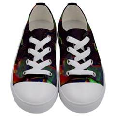 The Fourth Dimension Fractal Kids  Low Top Canvas Sneakers