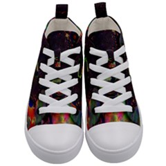 The Fourth Dimension Fractal Kid s Mid Top Canvas Sneakers