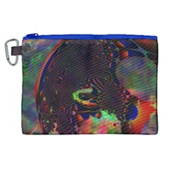The Fourth Dimension Fractal Canvas Cosmetic Bag (xl)