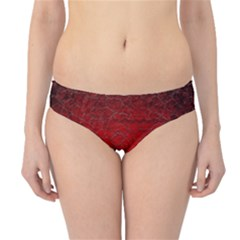 Red Grunge Texture Black Gradient Hipster Bikini Bottoms