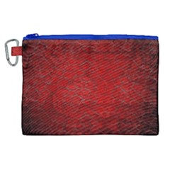 Red Grunge Texture Black Gradient Canvas Cosmetic Bag (xl)