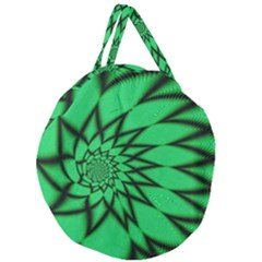 The Fourth Dimension Fractal Giant Round Zipper Tote
