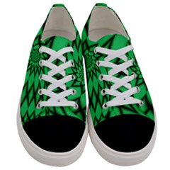 The Fourth Dimension Fractal Women s Low Top Canvas Sneakers