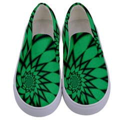The Fourth Dimension Fractal Kids  Canvas Slip Ons
