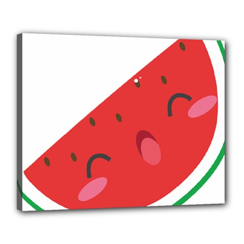 Watermelon Red Network Fruit Juicy Canvas 20  X 16