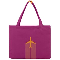 Airplane Jet Yellow Flying Wings Mini Tote Bag