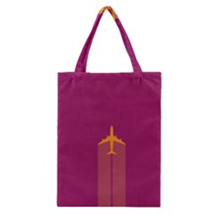 Airplane Jet Yellow Flying Wings Classic Tote Bag