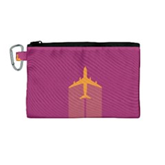 Airplane Jet Yellow Flying Wings Canvas Cosmetic Bag (medium)