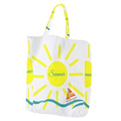 Summer Beach Holiday Holidays Sun Giant Grocery Zipper Tote