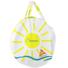 Summer Beach Holiday Holidays Sun Giant Round Zipper Tote