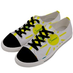 Summer Beach Holiday Holidays Sun Men s Low Top Canvas Sneakers by BangZart