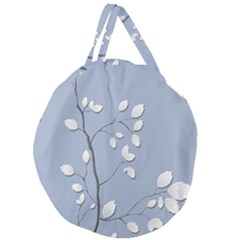 Branch Leaves Branches Plant Giant Round Zipper Tote