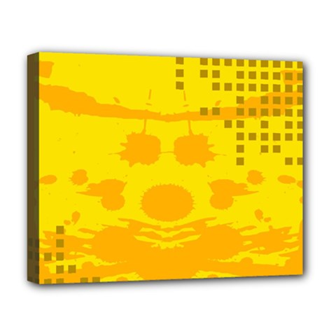 Texture Yellow Abstract Background Deluxe Canvas 20  X 16