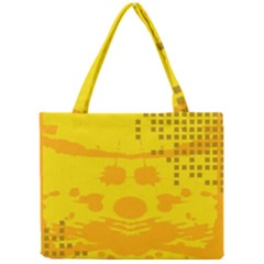 Texture Yellow Abstract Background Mini Tote Bag by BangZart