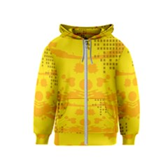 Texture Yellow Abstract Background Kids  Zipper Hoodie