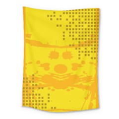 Texture Yellow Abstract Background Medium Tapestry