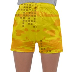 Texture Yellow Abstract Background Sleepwear Shorts