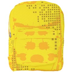 Texture Yellow Abstract Background Full Print Backpack
