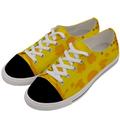 Texture Yellow Abstract Background Women s Low Top Canvas Sneakers by BangZart